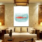 Red Carp Fish Modern Canvas Oil Painting Picture Wall Hangings Art Prints