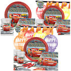 Disney Cars 3 Kids Birthday Party Pack Tableware Kits - For 8 or 16 Guests