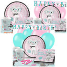 Purr-Fect Happy Birthday Party Pack Tableware Kits - For 8 or 16 Guests