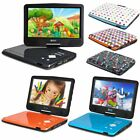"10"" Portable DVD Player 270° Swivel USB SD Remote Control & Car Headrest Holder"