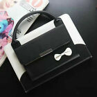 "Cute Bowknot Handbag Leather Magnetic Case Cover for iPad 9.7"" 2017 234 Air Mini"