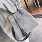 Large Capacity Womens Bag Faux Fur Tassel Handbag Totes Shoulder Messenger Pouch