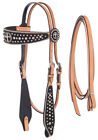 Silver Royal Desert Faith Cross Headstall and Reins Set with  Inlay