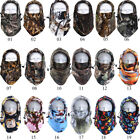 Men Women Winter Camo Fleece Balaclava Hat Ski Hunting Neck Face Mask Hood Cap