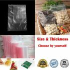 100 Pcs Plastic Waterproof Storages Grip Seal Zip Lock Zipper Bags Reclosable