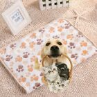 Dogs Cats Pet Blanket Warm Dog Bed Mat Cover Fleece Towel Paw Print Beds New T