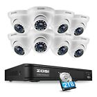 ZOSI 8CH HD 1080N HDMI DVR CCTV Security Camera Outdoor Syst