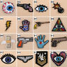 1/10PCS Cartoon Iron On Patches Embroidered Fabric DIY Applique Craft Sewing