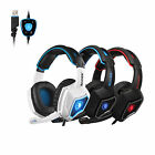 Sades Spirit Wolf Gaming Headset Stereo Headphone 7.1 Surround USB/3.5mm Wired