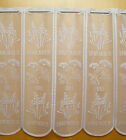 White Kitchen Cafe Net Curtain Lavender/Dill Design Sold by the metre