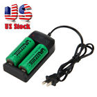 3.7V Rechargeable 26650 18650 Li-ion Battery + i4 i2 Charger For Flashlight USCC