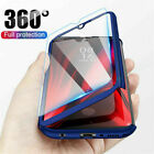 For Samsung Galaxy A3 A5 A7 2016 2017 360° Full Cover Hybrid Case+Tempered Glass