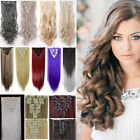 100% New Real Clip In Hair Extensions 18 Clips On Hair Extentions Human Thick F8
