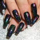 Multichrome Color Shift Holo Press On Gel Acrylic Fake False Faux Glue On Nails