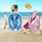 Anti-Fog Swimming Diving Full Face Mask Surface Snorkel Scuba for GoPro S/M L/XL
