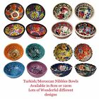 Set of 4 Handmade Turkish Moroccan Nibbles Olives Fruit Bread Peanuts Food Bowls