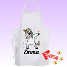 Personalised UNICORN DAB Cooking Baking Apron Kids Adults Christmas Gift - DE3