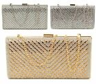 LADIES HARD CASE MIRROR DIAMANTE PROM PARTY EVENING BRIDAL OCCASION CLUTCH BAG