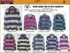 EDWARDS HEAVIES MENS LONG SLEEVE RUGBY SHIRTS MANS STONE WASH SHIRT EDWARD HEAVY