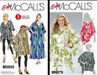 McCalls Easy Misses Tops Tunic Sash Caftan Lrg-Xlg-Xxl Sizes (16-26) Pattern