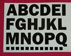 """50mm 2"""" Capital Letters, A to Z & 0 to 9, use for Signs, Names, Sports, Bins"""