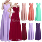 UK Women Formal Long Dress Prom Evening Party Cocktail Bridesmaid Wedding Gown