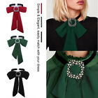 Women Girl School tied Chiffon Bowtie Bow Neck Tie Office Dot Bow-Knot Collar