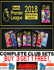 Topps Merlin's Premier League 2018 STICKERS COMPLETE CLUB SETS! BUY 3 GET 1 FREE