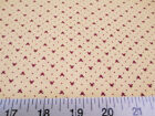 Discount Fabric Cotton Apparel Keepsake Calico Burgundy Heart 12T