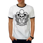 Western Cowboy Skull Guns Men Ringer T-shirt S-2xl New | Wellcoda