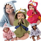 Toddler Kids Baby Boys Girls Animal Bathrobe Hooded Bath Towel Wrap Bathing Robe