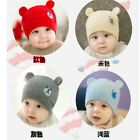 Winter Toddler Baby Boys Hat Children Bear Ears Soft Cozy Beanie Caps