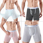 Men's Boxer Briefs Summer Underwear Shorts Bulge Pouch Underpants Multi-Colors