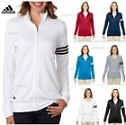 Adidas Ladies Mock Collar Polyester 3 Stripes Full Zip Pullover Jacket A191 SALE