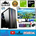 Ultra Fast Gaming Bundle Pc I3 Computer Ssd Hdd 8gb Windows 10 Intel Desktop Pc