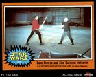 1977 Topps Star Wars #319 Dave Prowse and Alec Guinness rehearse EX/MT $6.0 USD