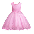 DH Flower Girl's Floral-Embroidered Pearl Embellished Evening Dress Up 3-10 Y