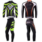 Mens Bike Clothes Cycle Pants With Padding Spin Biking Long Jersey Trousers Sets
