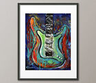Lg. Canvas and Fine Art Prints Stratocaster Guitar Contemporary Modern Abstract