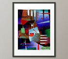 Lg.Canvas and Fine Art Prints Red Blue Contemporary Painting Abstract Modern