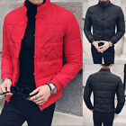 Men Stand Collar Jacket Embroidery Padded Cotton Cool Outdoor Winter Warm Coat