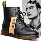 Military Combat Men's Leather LACE Up Punk Gothic High Top Motorcycle Rock Boots