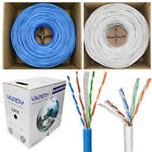 1000FT CAT6 CAT5E Cable UTP Solid Network Ethernet CAT5 Bulk RJ45 Lan Waterproof