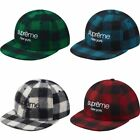 NEW Supreme Buffalo Plaid Wool Woolrich Classic Logo 6 Pa...