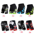 Race Fitness Cycling Shorts Padded Mens Stretchy Bicycle Wear Pants Half Sleeve