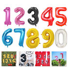 16/32/40Inches Digit Foil Number Balloons Wedding Birthday Event Party Supplies