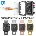Apple Watch Series 3/2/1 38/42mm Snap On Bumper Hard Case Cover+Screen Protector