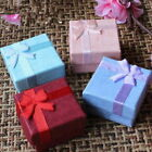 Wholesale 6/12pcs Ring Earring Jewelry Display Gift Box Bowknot Square Case New