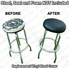 """Внешний вид - Bar Stool Seat Cover 18"""" inch Round Replacement STAPLE ON Faux Leather Vinyl Top"""