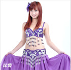 Professional Belly Dance Costumes Bra+Hip Belt 2pcs set Performance Outfits #813